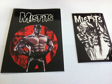 THE MISFITS 2-Pack of Stickers Cartoon & Eyeball NEW OFFICIAL MERCH Danzig
