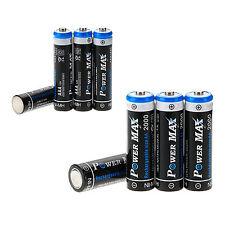 4St. x AAA 1000mAh + 4St. x AA 2000mAh ,1.2V NiMh Akku,Wiederaufladbare Batterie