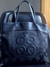 AUTHENTIC COACH JULIA OP ART PERRY LARGE BAG TOTE PURSE 15013 BLACK $358 - RARE