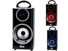 QFX BT-168 Bluetooth Portable Rechargeable Speaker +FM Radio +USB/SD +LED Light