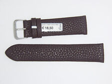 "FLUCO (Germany) Genuine Soft Calfskin Leather Watch Band 22 mm Brown ""Look"""