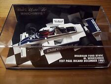 1/43 BRABHAM 1981 FORD BT49C MANFRED WINKLEHOCK TEST PAUL RICARD DECEMBER 1981