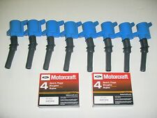 ALL 8 BLUE IGNITION COIL DG508 & 8 MOTORCRAFT PLUGS SP493