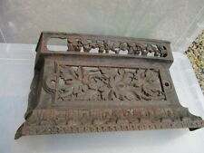 Antique Iron Fire Front Grate Grill Fender Fireplace Floral Vintage Tidy Betty