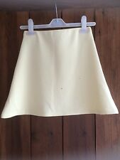 Missguided yellow A line skirt 8
