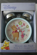 Authentic New DISNEY WINNIE THE POOH Twin Bell Alarm Clock With PIglet