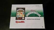 Classic Concentration - Manual Only - Nintendo NES