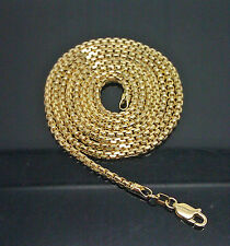"10K Yellow Gold Rolo Chain 2mm 28"" Long A7B3 Palm, Rope, Franco, Cuben"