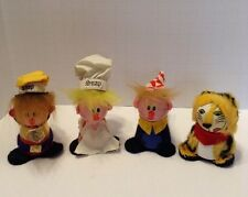 Vtg 1972 Kellogg's Rice Krispies Snap, Crackle & Pop And Tony The Tiger Toys.