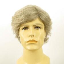Perruque homme 100% cheveux naturel blanc méché gris REMI 51