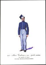 STAMPA UNIFORMI STORICHE - ALLIEVO CARABINIERE A CAV. - PICCOLA MONTURA - 1833