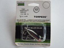 Heddon Tiny Torpedo Top Water Fishing Lure Old Stock 0360NBL E3 1/4 oz