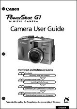Canon Powershot G1 Digital Camera User Guide Instruction  Manual