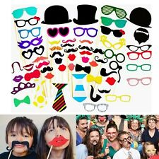 58pcs DIY Mask Photo Booth Props Mustache On A Stick Wedding Birthday Party