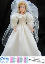 Diana Princess of Wales porcelain doll with replica of wedding dress Lady Di