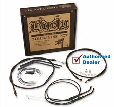 "Burly 12"" Black Handlebar Control Installation Kit Cables 14-17 Harley Sportster"
