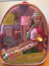 VINTAGE SCHOOL COOL BARBIE DOLL WITH HER OWN BACKPACK NRFP FROM 2001 NEW.