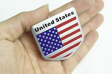 "1Pcs Peltate United States Flag 1.9"" Auto Body Trunk Lid Sticker Badge Emblems"