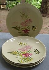 FOUR Red Wing Pottery Pink Spice Dinner Plates
