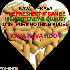 100 KAVA KAVA ROOT Capsules Pills Boost Sex Drive Relax THE FRESHEST IT CAN BE