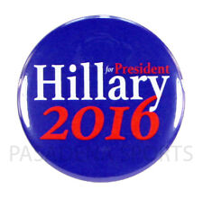 "2016 HILLARY for PRESIDENT 2.25"" PIN BACK CAMPAIGN BUTTON, clinton blu"