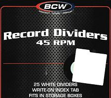 75 New 45 RPM Record Dividers Wide Index Tab for 7 Inch Record Storage Boxes