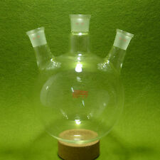 3 neck round bottom Flask,Boiling Flask,2000ml,24/29,Glass flask,lab glassware