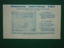 1932 PUB P VIET DEMARREUR AUTO-VIREUR MOTEUR AVION AIRCRAFT ORIGINAL FRENCH AD