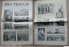 MARCIA SU ROMA RIVISTA PRO FAMILIA NOV.1922 LA MOBILITAZIONE FASCISTA MUSSOLINI