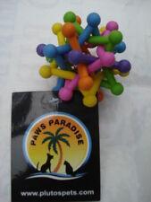 Multi Coloured Rubber Atom. Paws Paradise + Plutos Pets Quality Pet Toys!!!