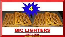LOT 4 Display tray for 50 Standard Bic Lighters for Store Counter Top Rack (NEW)