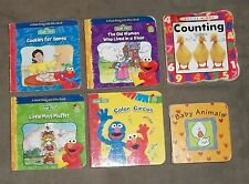 Sesame Street book lot of 4 with Baby Animals,Counting, glossy thick cardboard