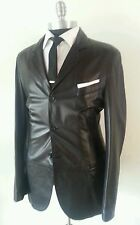 $2895 New Giorgio Emporio Armani Slim Leather Blazer Jacket Coat 40Reg 42Long52