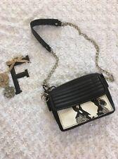 GX By Gwen Stefani Purse Crossbody Bag Chain Shoulder Black White Snake Print