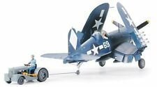 Tamiya 61085 1/48 Aircraft Model Kit U.S. Navy Vought F4U-1D Corsair w/Moto-Tug