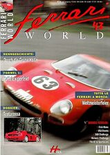 FERRARI WORLD 43 Magazin 2002 + Renngeschichte Grüne Hölle Testarossa Monza ++++