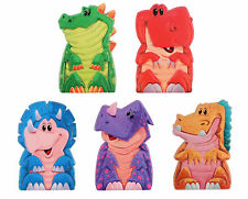 30 DINOSAUR FINGER PUPPETS Party Bag Toy 5 Different Designs