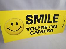 WHOLESALE LOT OF 20 SMILE YOU'RE ON HIDDEN CAMERA STICKER sign security decal