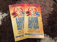 DOLLY PARTON (9 TO 5) MILTON KEYNES THEATRE 2013- RARE FLYERS X 2