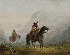 North American Native Indian Bourgeas & Squaw AJ Miller, 6x5 Inch Print