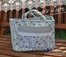 VINTAGE Blue giardino Laura Ashley Fab Picnic Storage/Cesto per Biancheria/Borsa/Box b19
