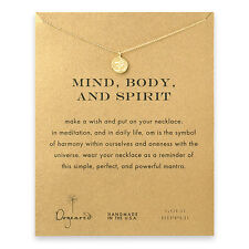 "Dogeared Gold Dip Mind,Body,Spirit OM Reminder 16""Boxed Necklace"