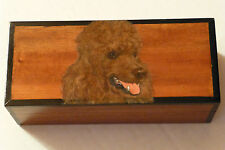 Brown Poodle Beautifully Handpainted & Detailed On Quality Teakwood Keepsake Box