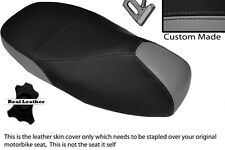 GREY & BLACK CUSTOM FITS PIAGGIO VESPA 125 GT 1 DUAL LEATHER SEAT COVER