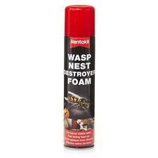 Rentokil Wasp Nest Destroyer Foam 300ml - Enough for 3 Nests Works In 24 Hours