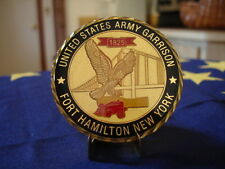 NY Fort Hamilton Coin Challenge Command US Army USA Made New Stand