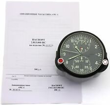 "Soviet 80's-made AirForce Cockpit Clock ACS-1 ""B"" / AChS-1 ""B"" for Su/MiG jets"
