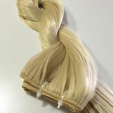 "Blonde 20"" #613 Hair Extension Weaving Weft 100% Htf Synthetic Fiber #E"