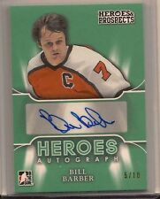 BILL BARBER 2015-16 LEAF ITG HEROES & PROSPECTS HEROES AUTO /10
