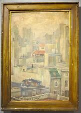 Buenos Aires c.1940 cityscape oil painting Argentina woman artist